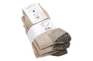 Ovčí ponožky se zdravotním lemem 3 ks