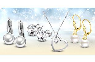 Ocelové šperky s perlami a krystaly Swarovski®