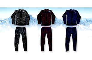 Set funkčního unisexového termoprádla: 3 barvy