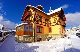 Vysoké Tatry v penzionu nedaleko Popradu se saunou, fitness, vínem, polopenzí a výhledem na Lomnický štít + noc zdarma