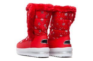 Dámské červené sněhule Evelyn 015