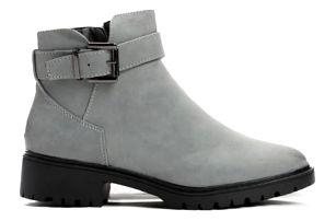 Dámské šedé kotníkové boty Tiffany 038