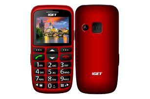 iGET D7 Single SIM červený (84000436)