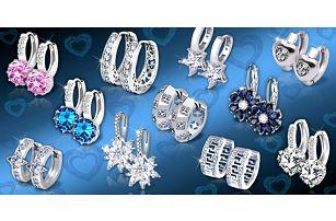 Třpytivé náušnice s krystaly z kolekce Brillance