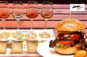 Skvělý burger a degustace 4 rumů pro dva