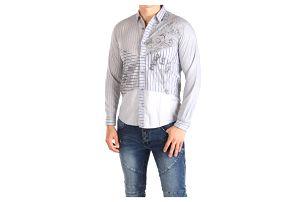 Pánská modro-šedá košile Desigual