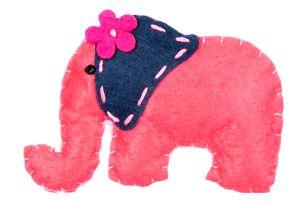 Fashion Icon Brož slon tkanina HAND MADE ruční práce