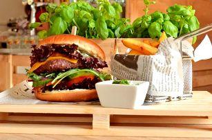 Burger a farmářské hranolky pro 1 i 2 osoby