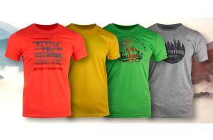 4820925773c4 Pánská trička Alpine Pro s nápisy ve 4 barvách