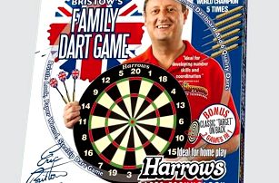 HARROWS Family Dart Game Sada terč a 6 ks šipek