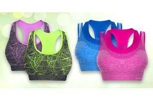 Sportovní i push-up podprsenky v různých barvách
