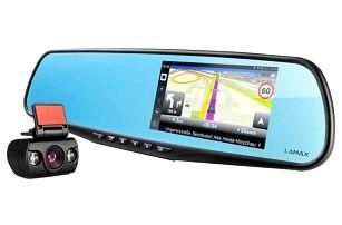 LAMAX Drive S5 Navi+ se zpětným zrcátkem černá