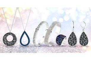 Třpytivé šperky s krystaly Swarovski Crystals