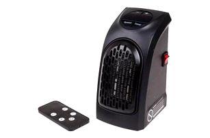 Teplovzdušný ventilátor do zásuvky s ovladačem