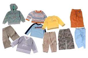 Balíček 10ks oblečení pro dětí