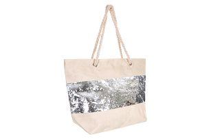 Faera Dámská plážová taška s oboustrannými flitry PY0018-12