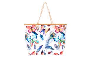 Fashion Icon dámská plážová taška se vzory fauny i flóry