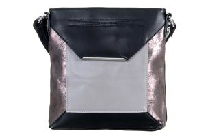 TESSRA Milano Dámská kabelka Silver přes rameno