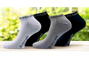 3 páry kotníkových ponožek U.S. Polo ASSN.