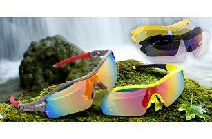 Sportovní polarizační brýle s vyměnitelnými skly