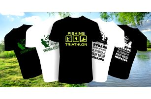 Vtipná pánská trička pro rybáře: 10 variant