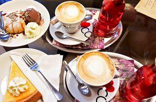 Prémiová káva Cosmai, domácí dezert a limonáda