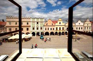 Romantický pobyt pro dva v Telči přímo na známém historickém náměstí