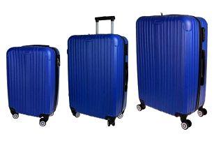 Sada 3 kufrů - skořepinové t.1901 modrá