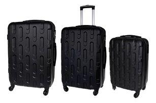 Sada 3 kufrů - skořepinové t.1904 černá