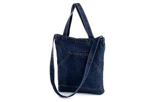 Tmavě modrá denimová taška Hipster 32614