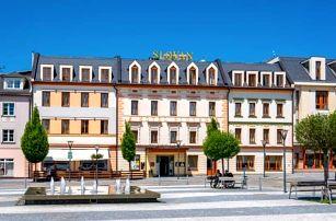 Jeseníky: Hotel Slovan **** blízko skiareálů s polopenzí a gurmánským menu