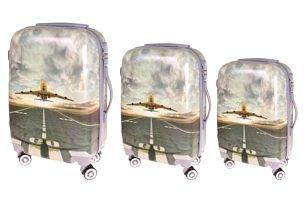Sada 3 skořepinových kufrů (letiště)