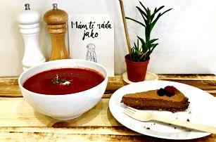 Obědové menu: polévka a dezert podle výběru