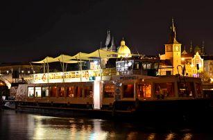 Luxusní večeře na lodi: À la carte menu na Vltavě