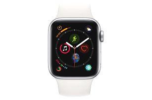 Chytré hodinky Apple Watch Series 4 Watch Series 4 GPS 40mm pouzdro ze stříbrného hliníku - bílý sportovní řemínek CZ verze (MU642HC/A)