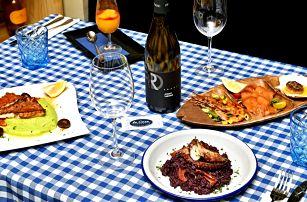 Italské degustační menu o 4 chodech i s lahví vína