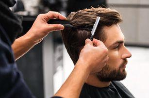 Pánský střih včetně stylingu nebo i úprava vousů