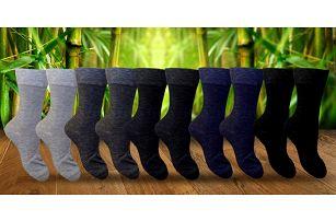 5 nebo 10 párů vysokých pánských bambusových ponožek