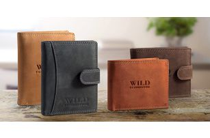 Kožené pánské peněženky v různých barvách