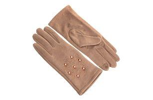 Dámské elegantní rukavice Snow s kamínky a perličky
