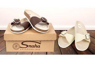 Dámské i pánské zdravotní pantofle značky Snaha