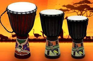 Ručně vyrobený africký buben Djembe: 3 velikosti