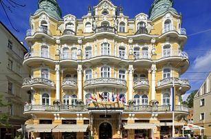 Wellness pobyt v luxusním hotelu v Mariánských Lázních + perličková koupel & polopenze - dlouhá platnost poukazu