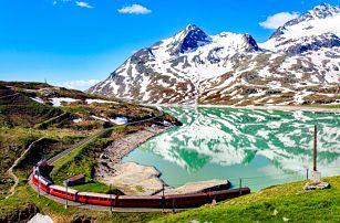 Švýcarská železnice panoramatickým vlakem tratí UNESCO   4denní poznávací zájezd