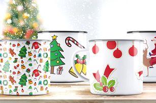 Vánoční plecháčky s různými designy