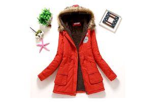 Dámská zimní bunda Jane - Červená-velikost č. M - dodání do 2 dnů