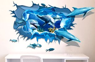 Samolepky na zeď s 3D efektem