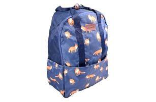Batoh modrý s liškami