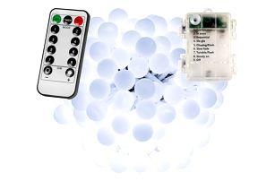 VOLTRONIC® 67304 Párty osvětlení - 10 m, 100 LED diod, stud. bílé, na baterie