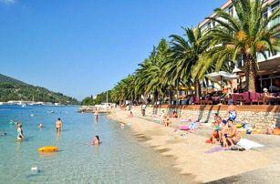 Chorvatsko: ostrov Korčula v Hotelu Posejdon *** přímo na pláži s all inclusive a bazénem